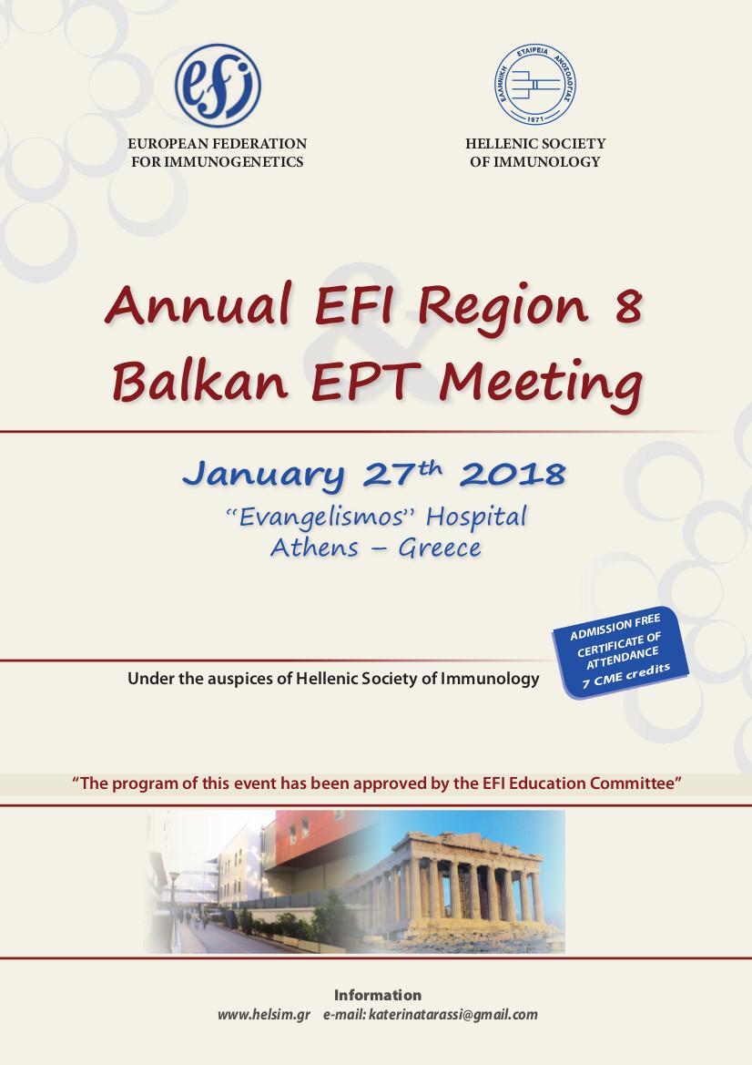 Annual Efi Region 8 Balkan Ept Meeting